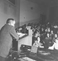 Professor Dunham Lectures at U-M for WUOM, December, 1949