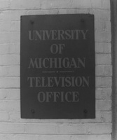 Angell Hall TV Studio Sign, 1954